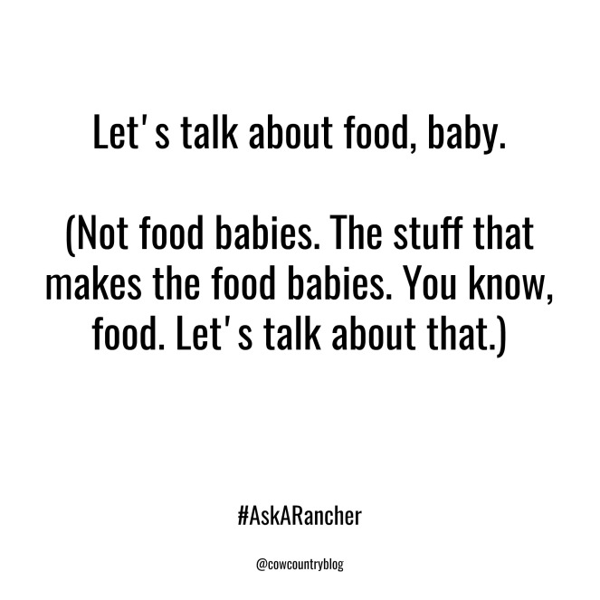 let's talk about food